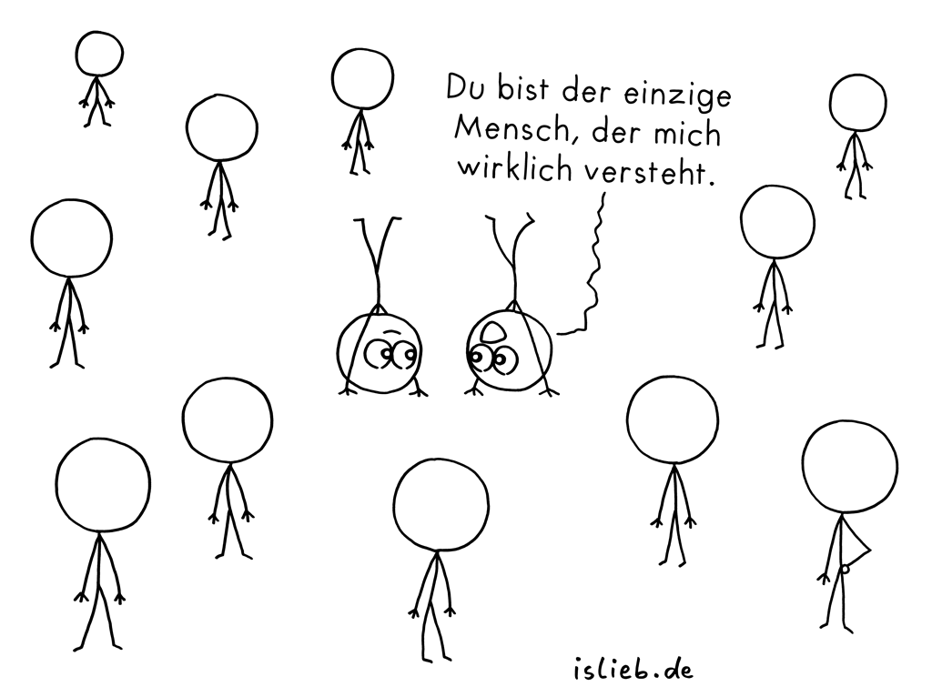Verstanden | Kopfstand-Cartoon | is lieb?