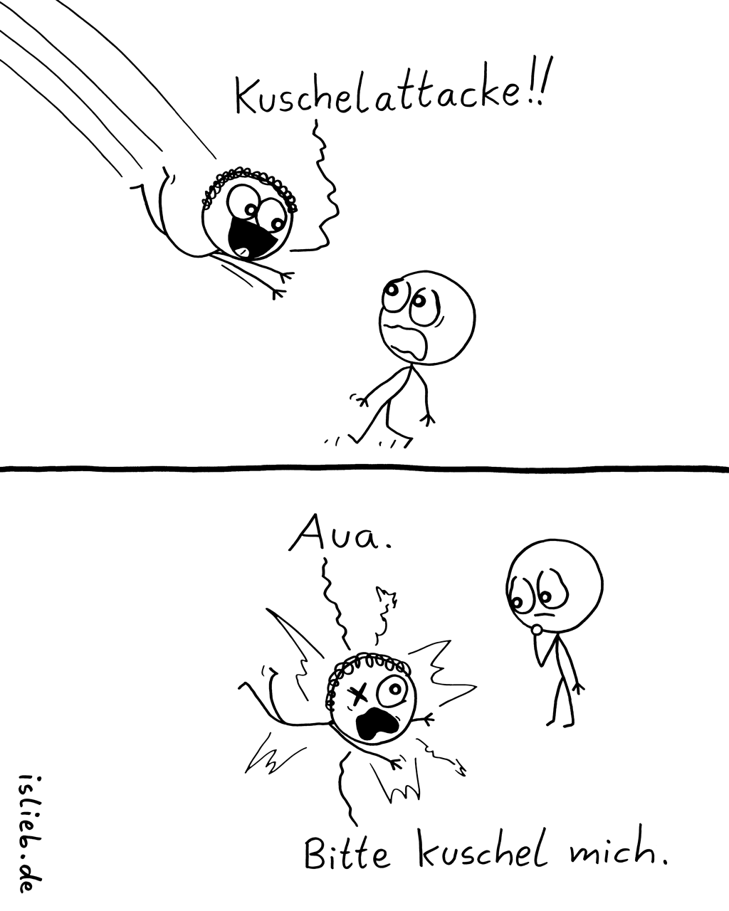 Attacke | Kuschel-Comic | is lieb?