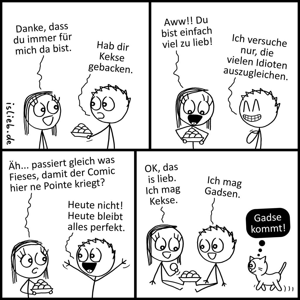 Glücklicher Comic | Gekse und Gadsen | is lieb?