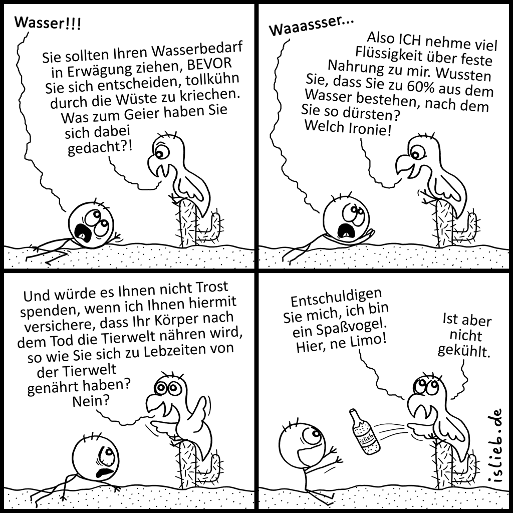 H2O | Geier-Comic | is lieb?