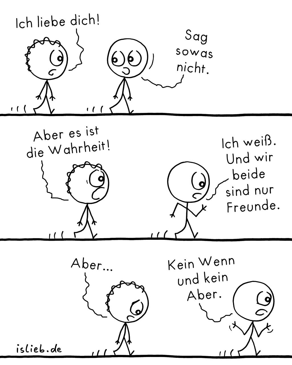 Nicht sagen | Strichmännchen-Comic | is lieb?