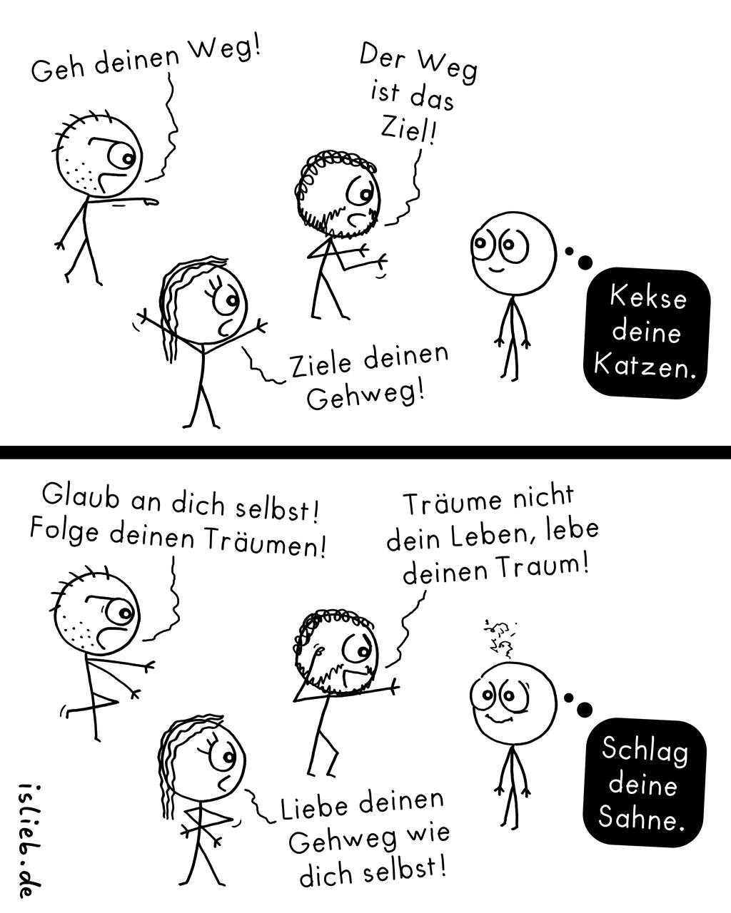 Philosophie fürs Leben | Comic-Sprüche | is lieb?