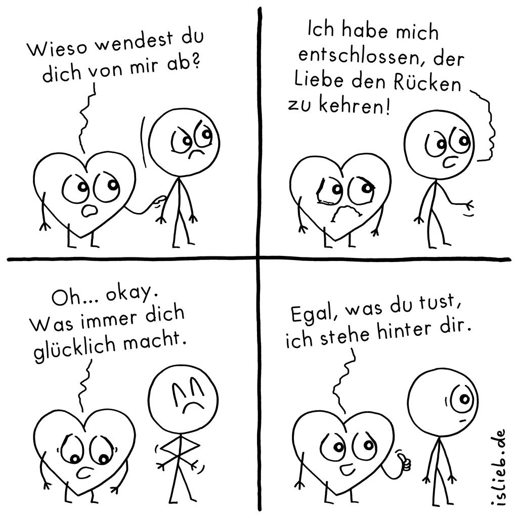 Abgewandt | Herz-Comic | is lieb?