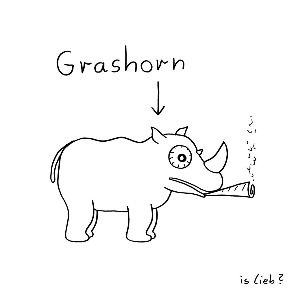 Grashorn | Nashorn-Cartoon | is lieb?