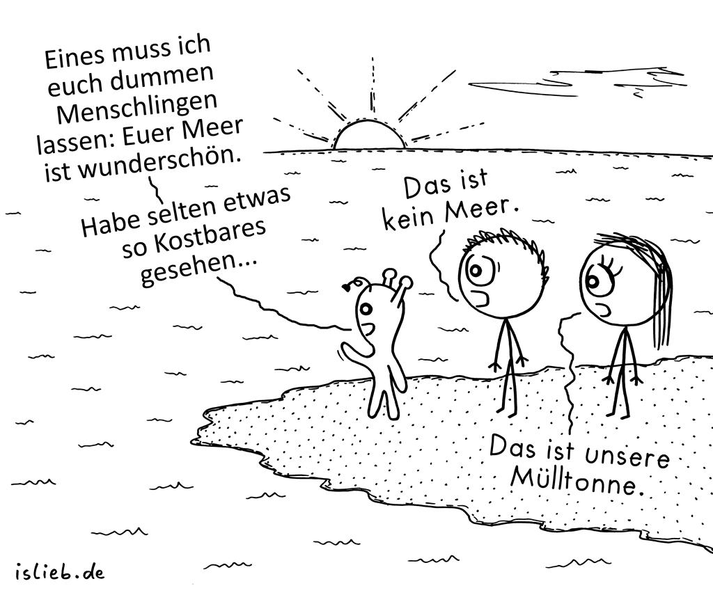 Missverständnis | Alien-Cartoon | is lieb?