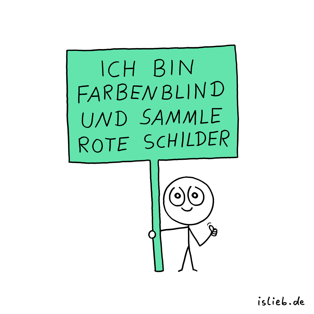 Sammlung | Schilder-Cartoon | is lieb?