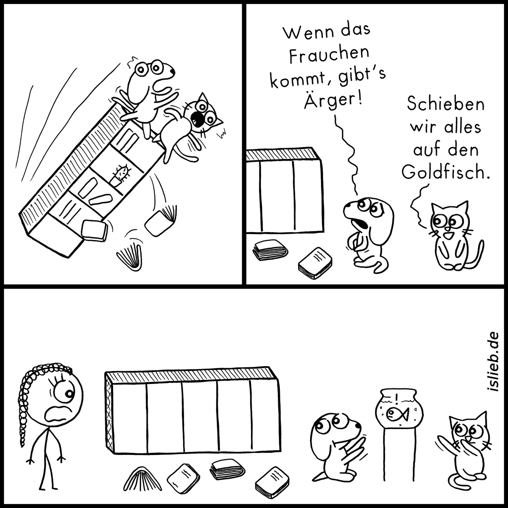 Schiebung | Haustier-Comic | is lieb?