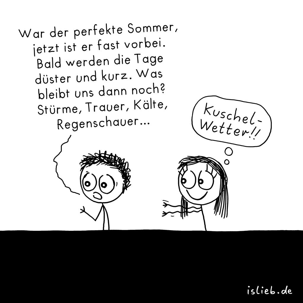 Spätsommer | Strichmännchen-Cartoon | is lieb?