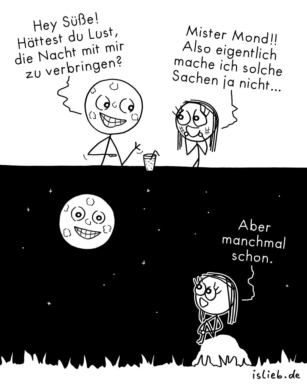 Verführt | Mond-Comic | is lieb?