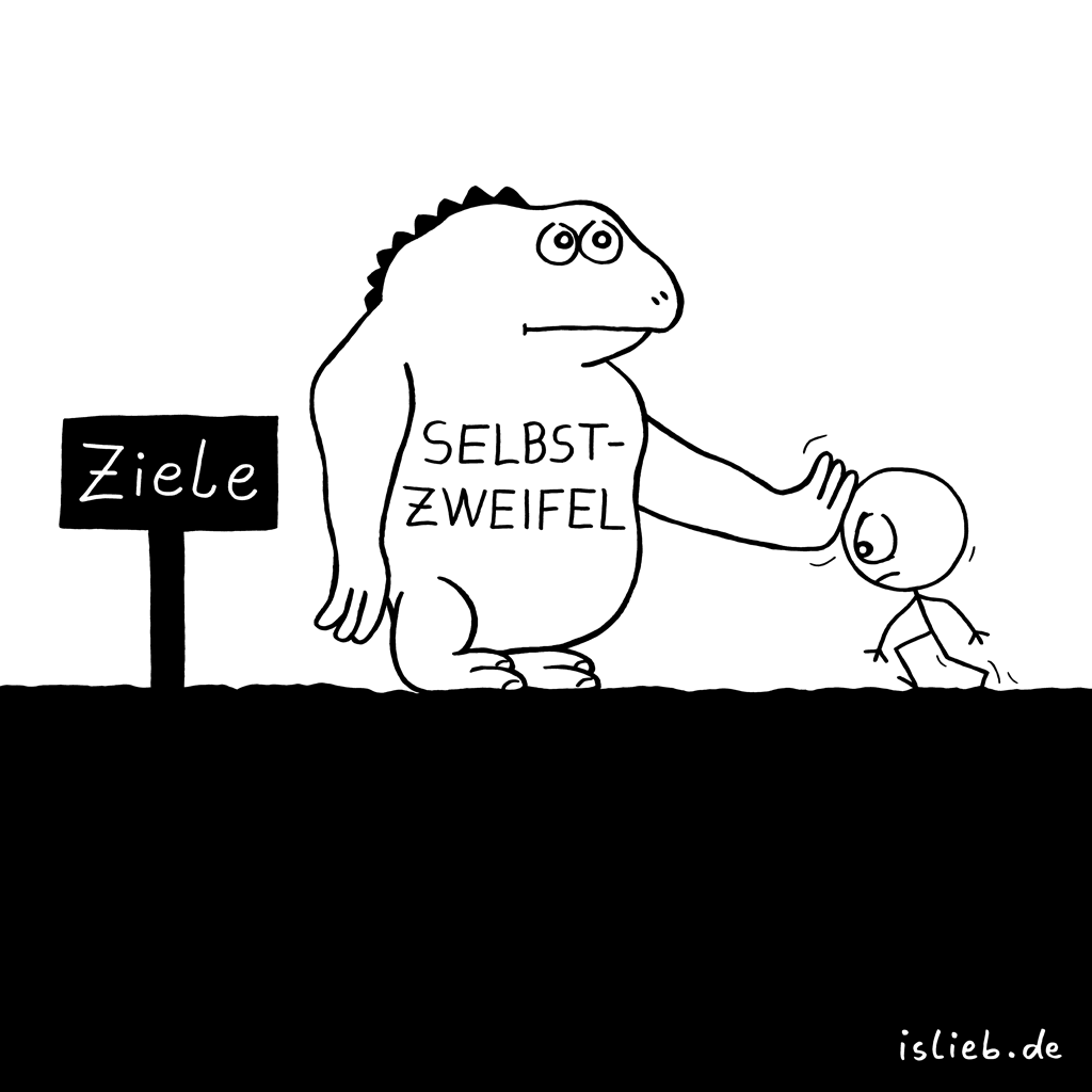 Ziele | Strichmännchen-Cartoon | is lieb?