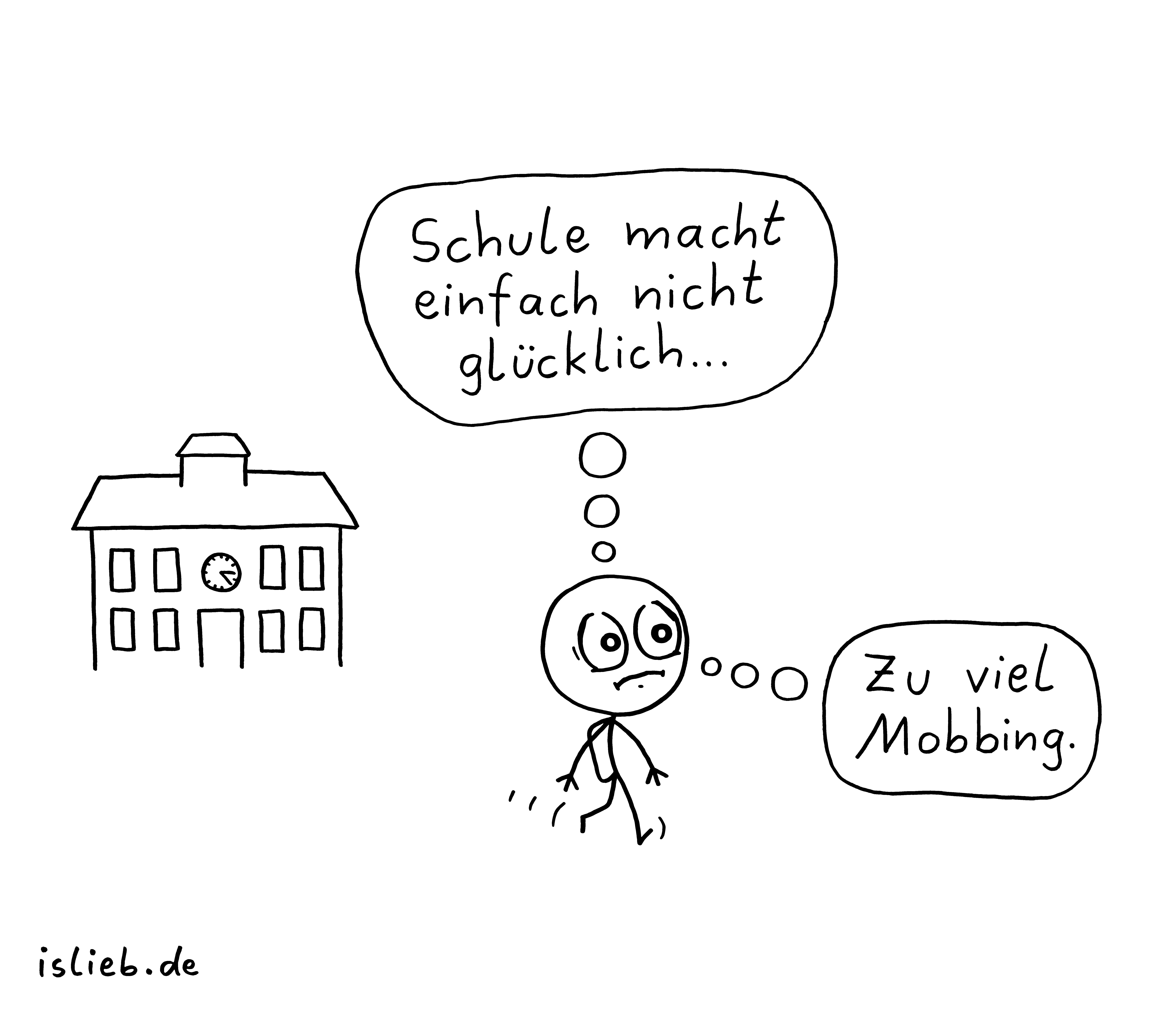 Nicht glücklich | Schul-Comic | is lieb?