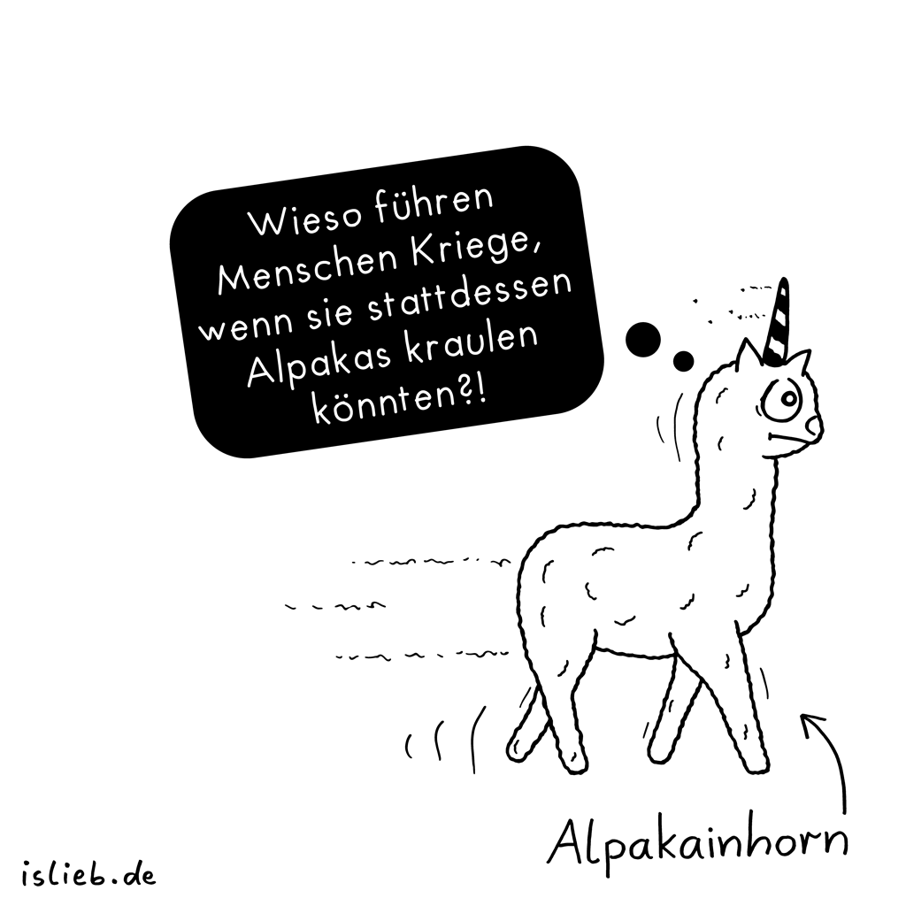 Alpakainhorn | Alpaka-Cartoon | is lieb?