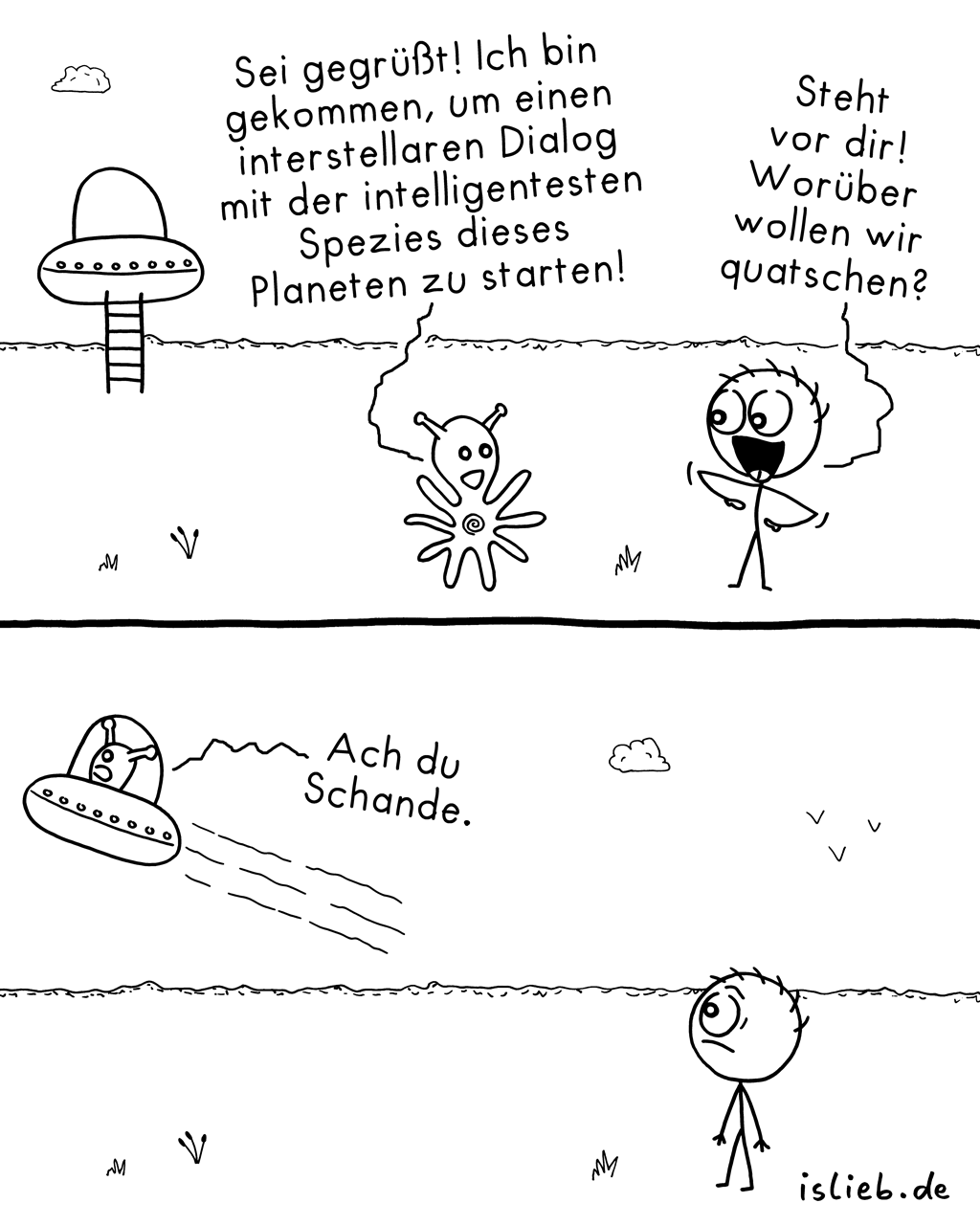 Dialog | Kommunikations-Comic | is lieb?