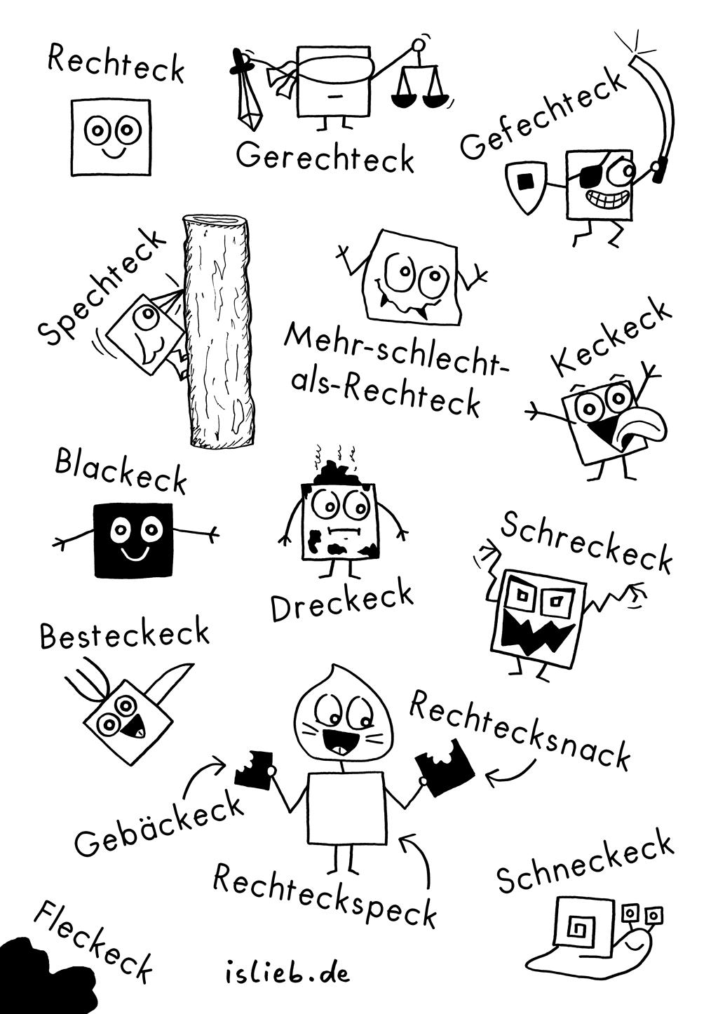 Eckig | Rechteck-Comic | is lieb?