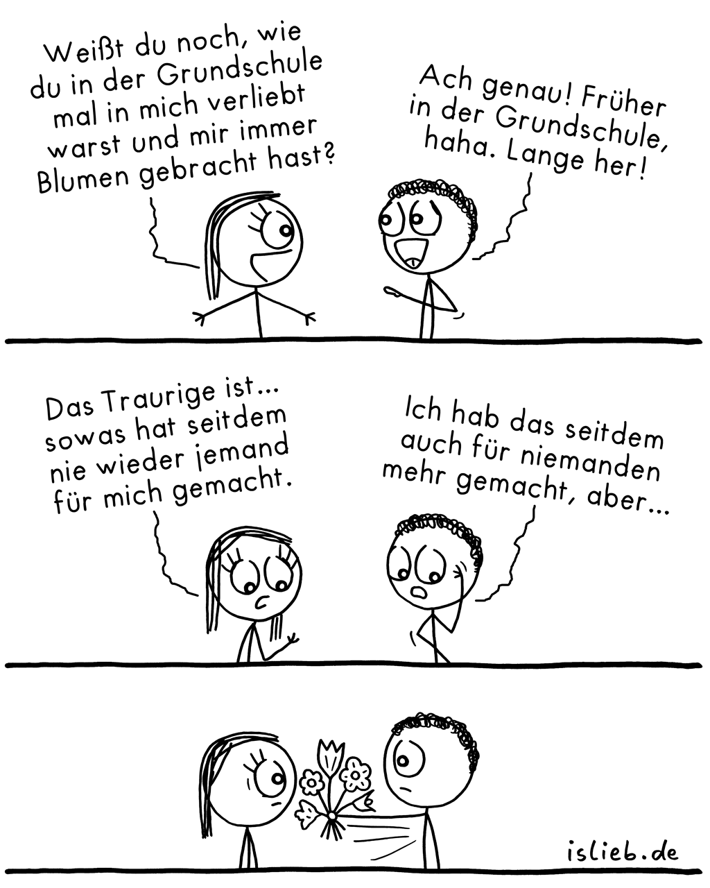 Lange her | Blumen-Comic | is lieb?
