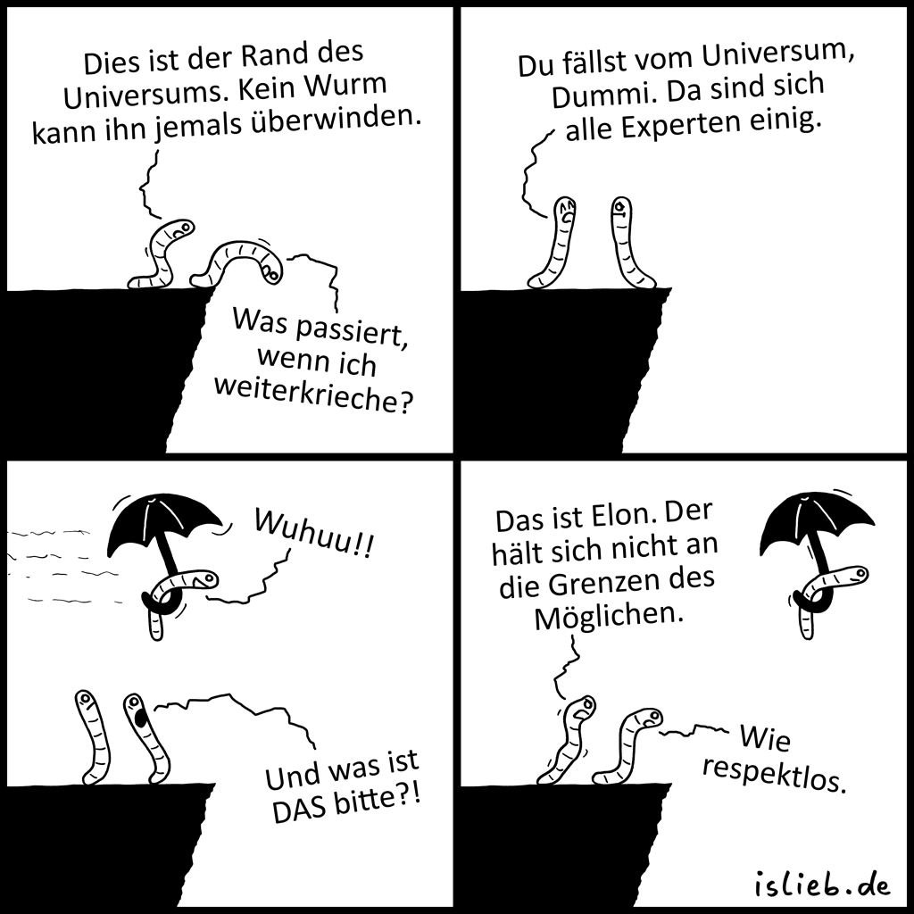 Rand des Universums | Wurm-Comic | is lieb?