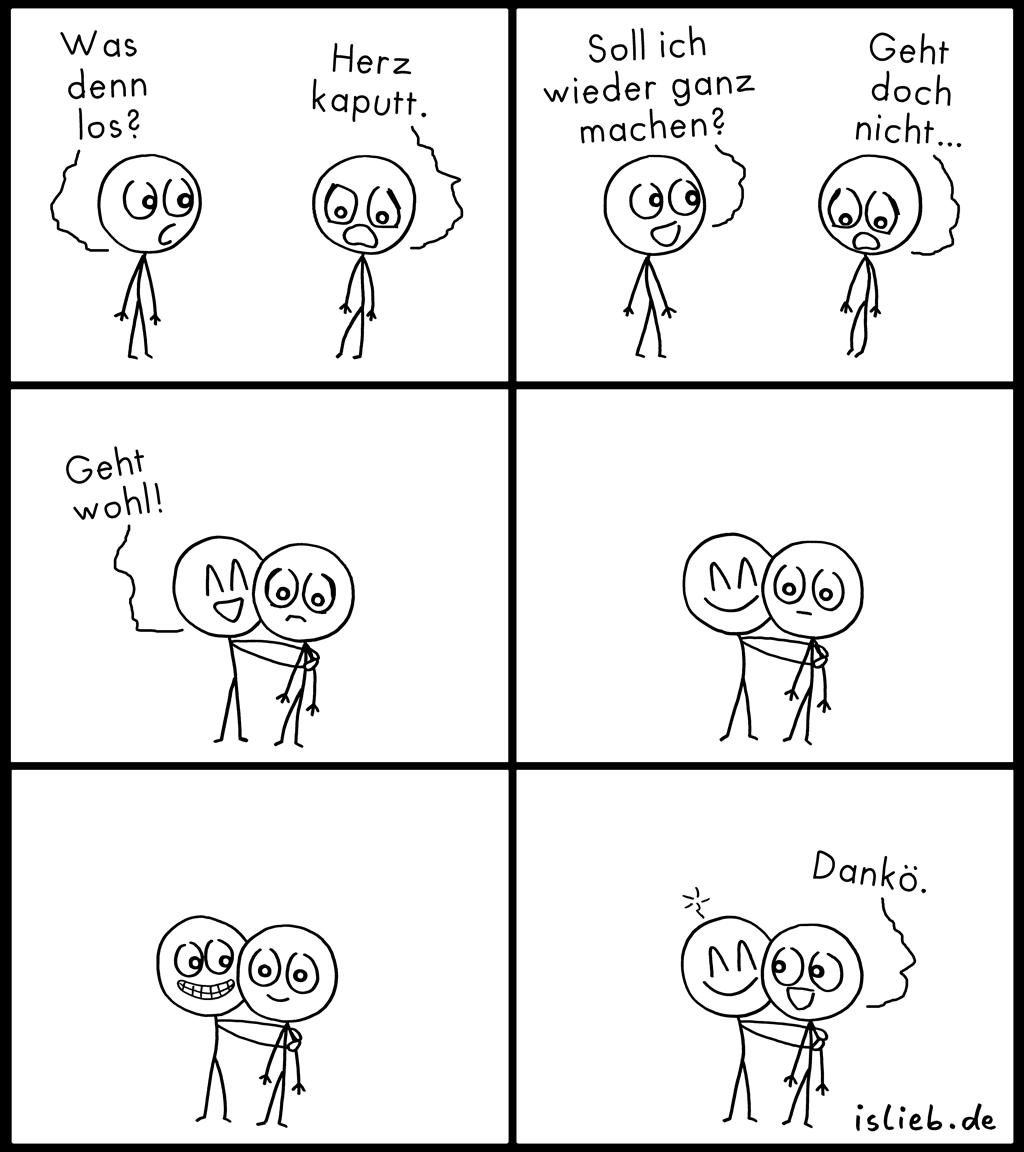 Reparatur | Strichmännchen-Comic | is lieb?
