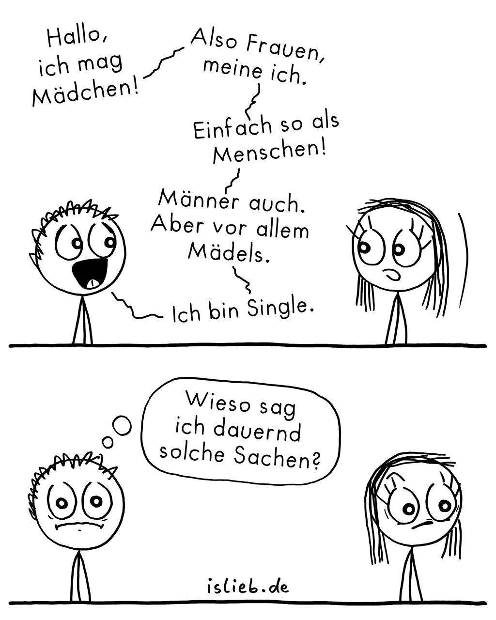 Solche Sachen | Strichmännchen-Comic | is lieb?