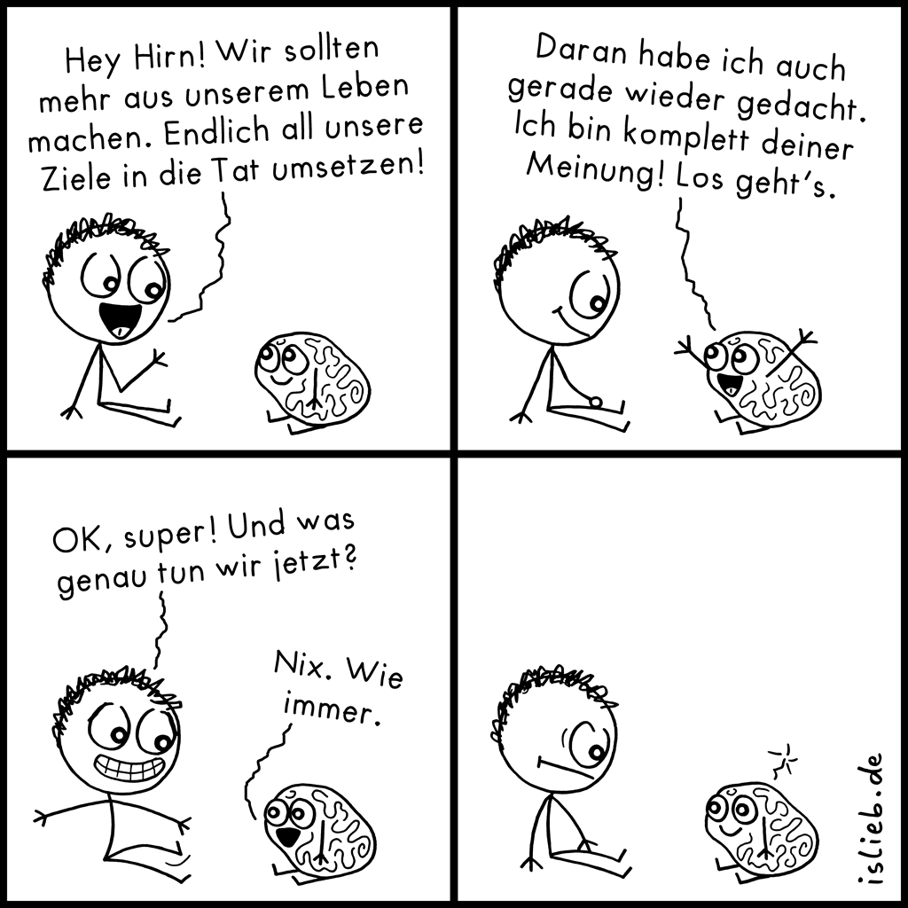 Tatendrang | Motivations-Comic | is lieb?