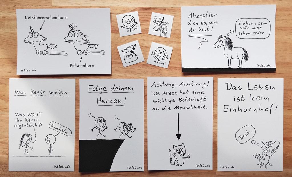 Sticker- und Karten-Set! Is lieb?