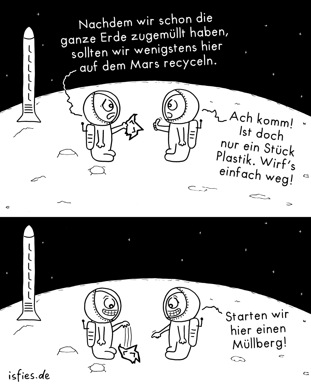 Marsmission | Is fies!