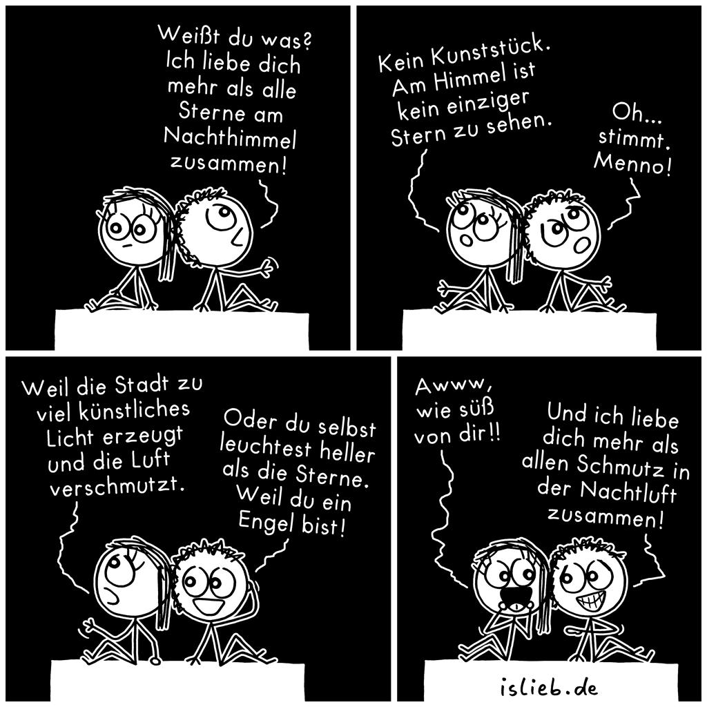 Alle Sterne | Strichmännchen-Comic | is lieb?