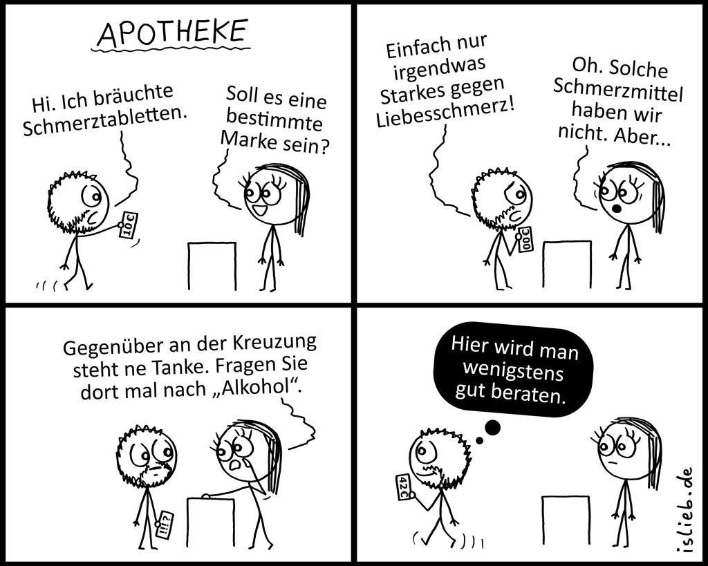 Apotheke | Pharmazeutischer Comic | is lieb?