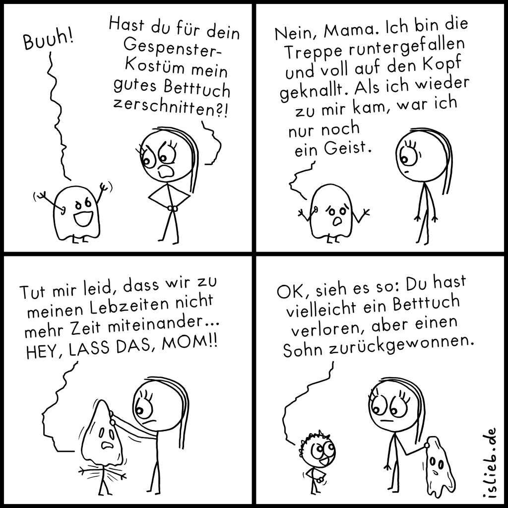 Betttuch | Geistercomic | is lieb?