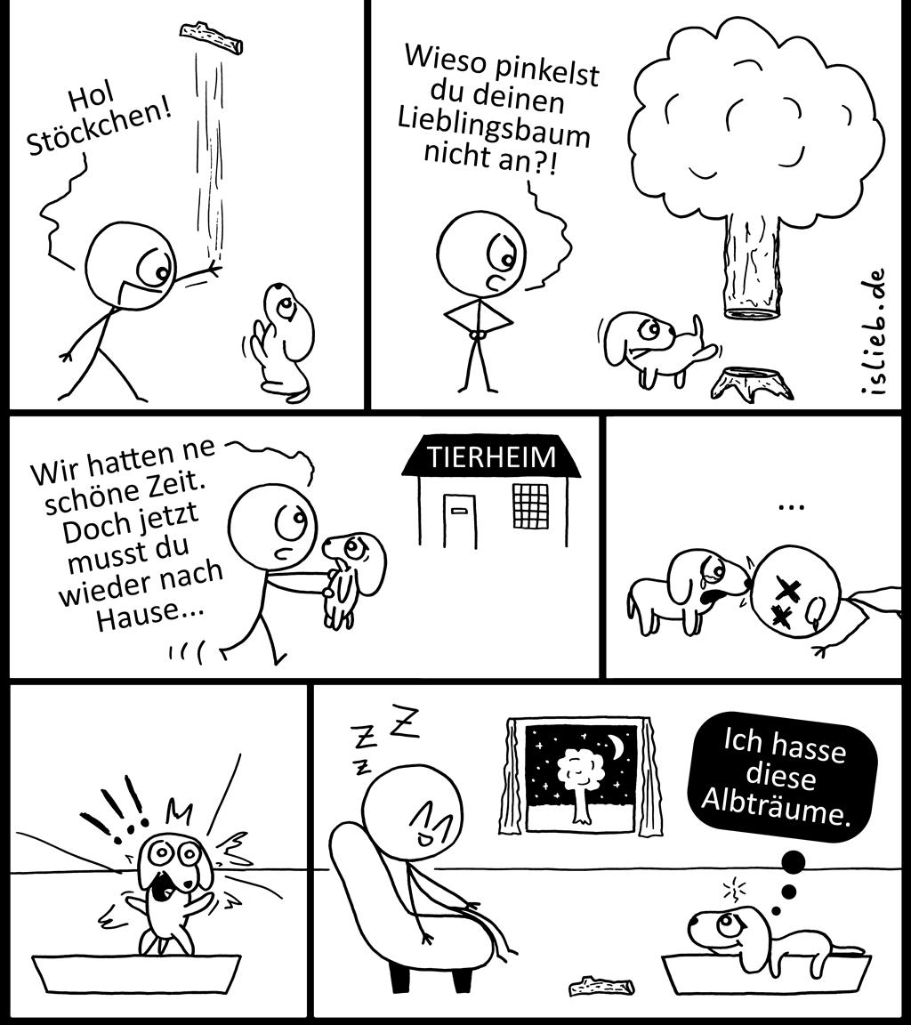 Hundehorror | Wauwau-Comic | is lieb?
