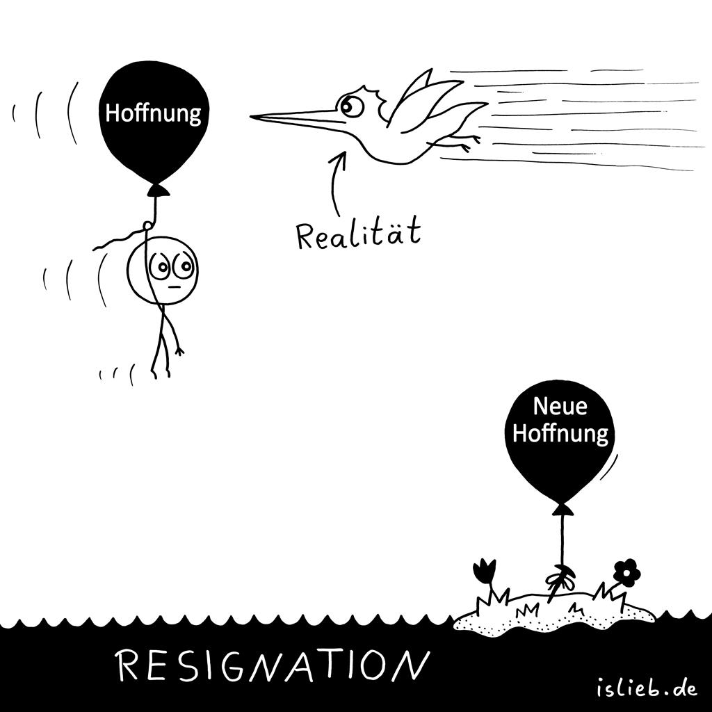 Neue Hoffnung | Ballon-Cartoon | is lieb?