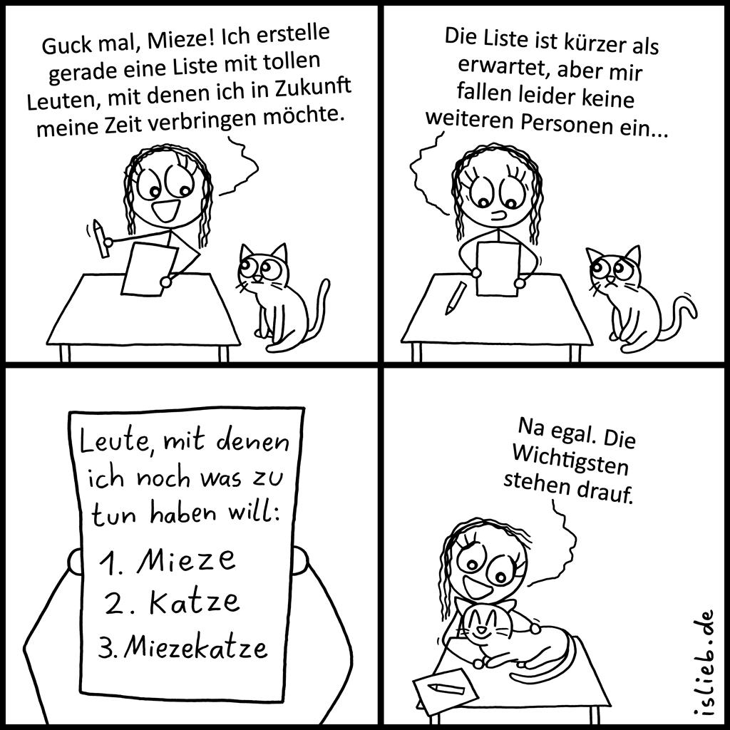 Tolle-Leute-Liste | Katzen-Comic | is lieb?