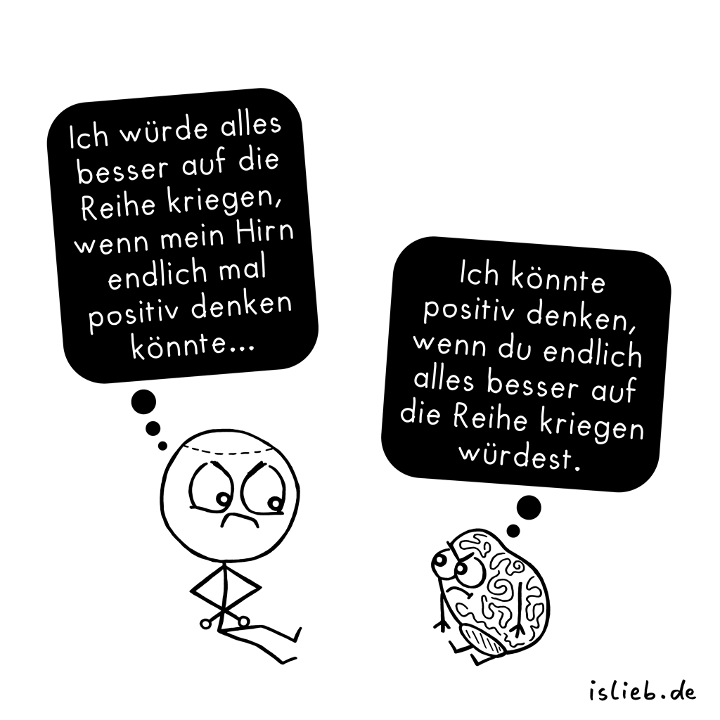 Auf die Reihe | Hirn-Cartoon | is lieb?