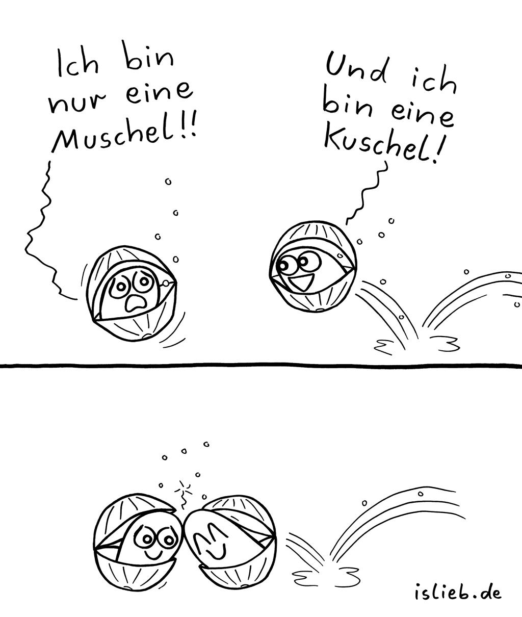 Muschel | Unterwasser-Comic | is lieb?