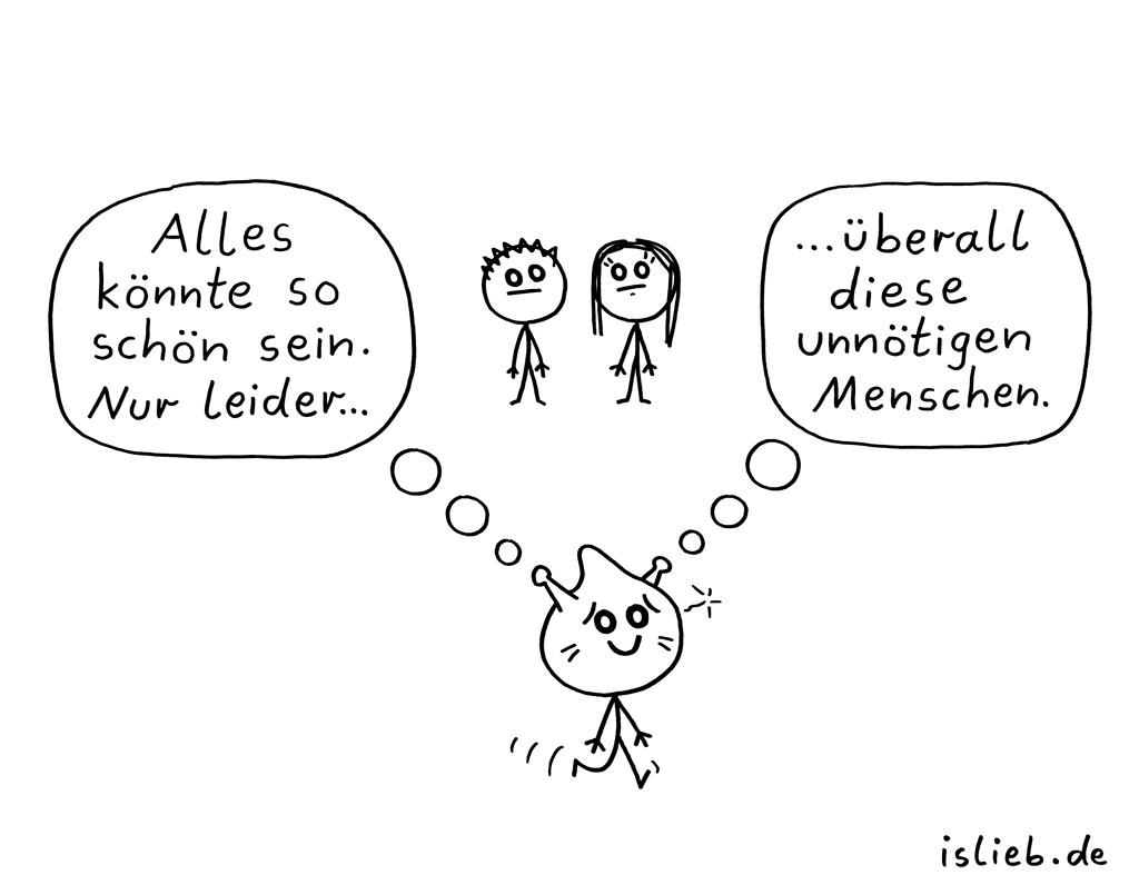 So schön | Schandfleck-Cartoon | is lieb?