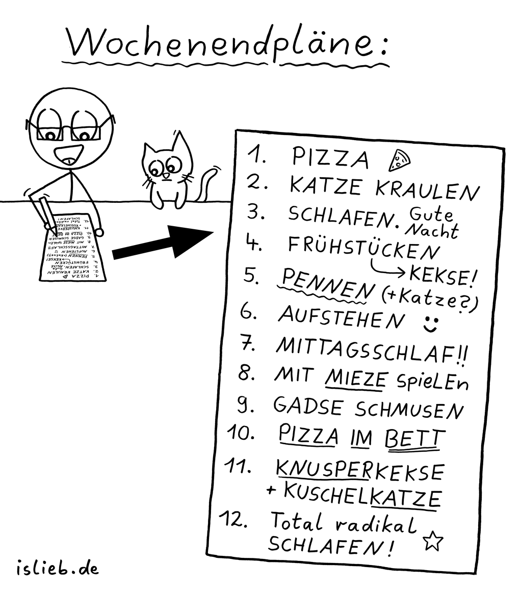 Wochenendpläne | To-Do-Liste | is lieb?