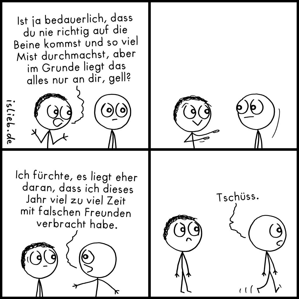 Bedauerlich | Neujahrs-Comic | is lieb?