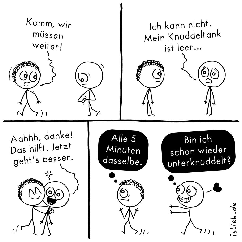 Einfach mal auftanken | Knuddel-Comic | is lieb?
