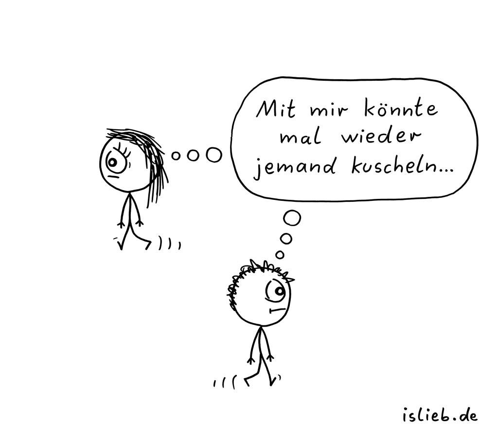 Kuschelbedarf | Knuddel-Cartoon | is lieb?