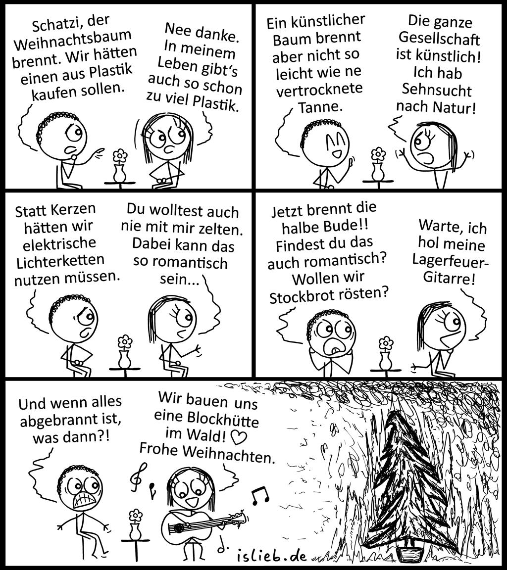 Romantisch | Weihnachts-Comic | is lieb?