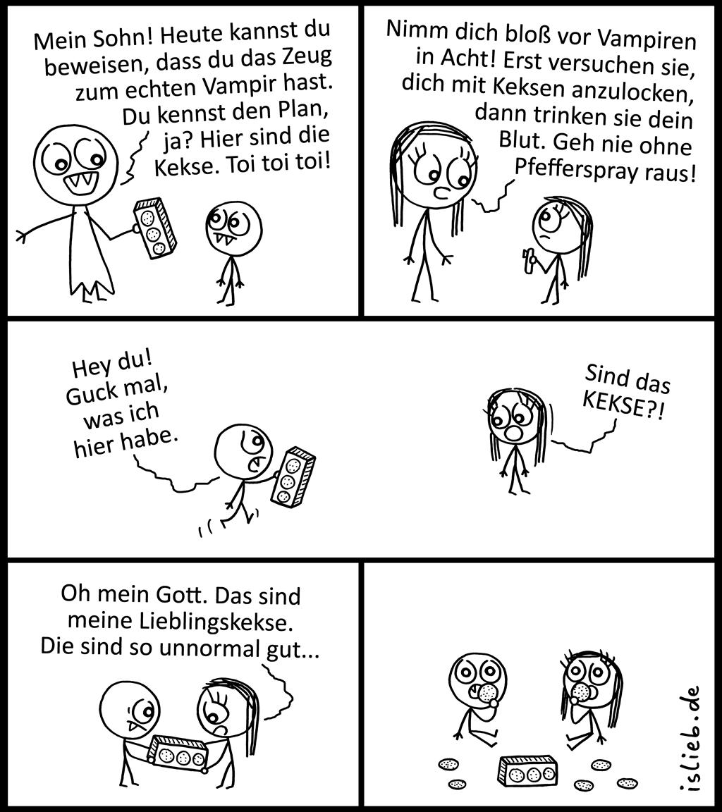 Vampir | Strichmännchen-Comic | is lieb?