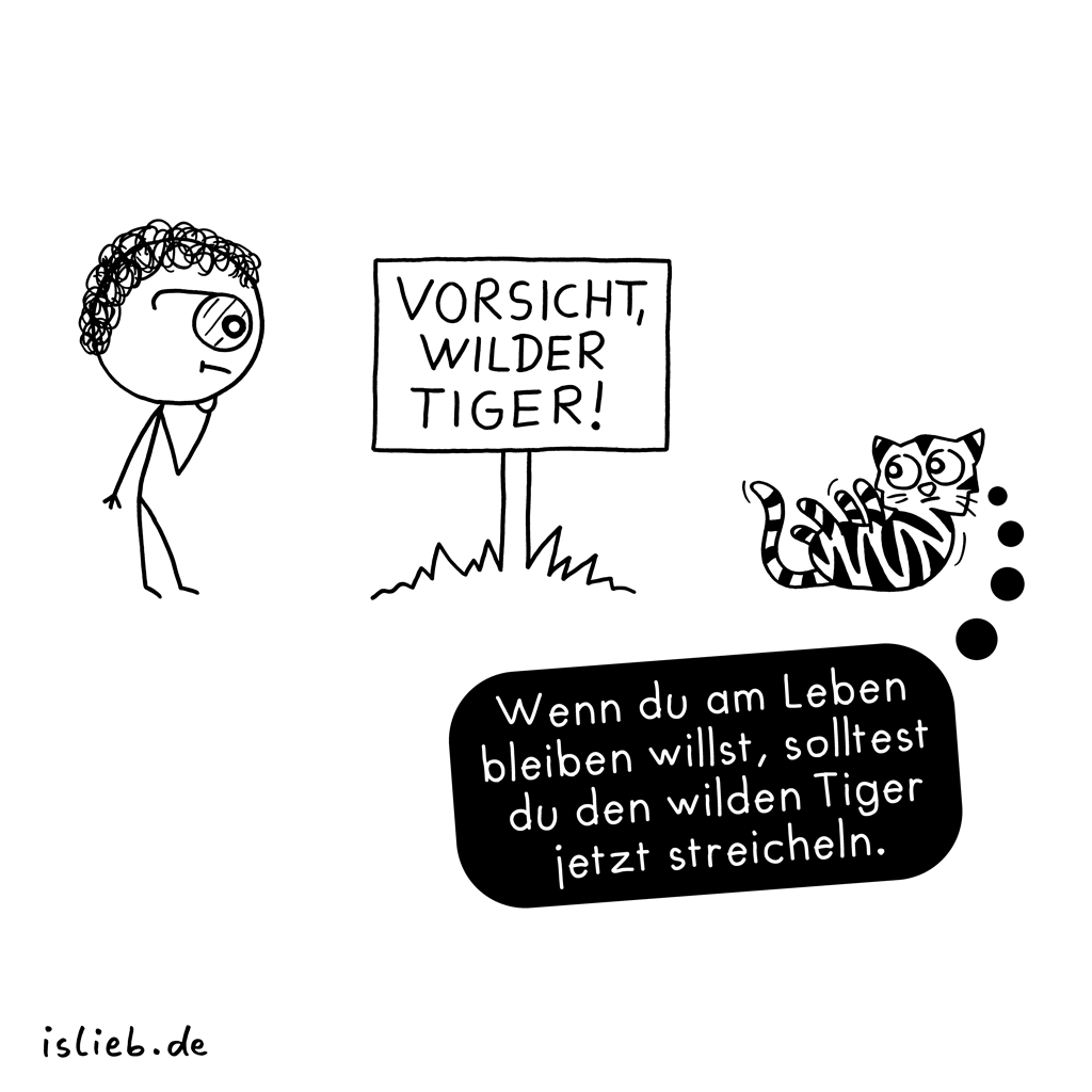 Wilder Tiger | Katzen-Cartoon | is lieb?
