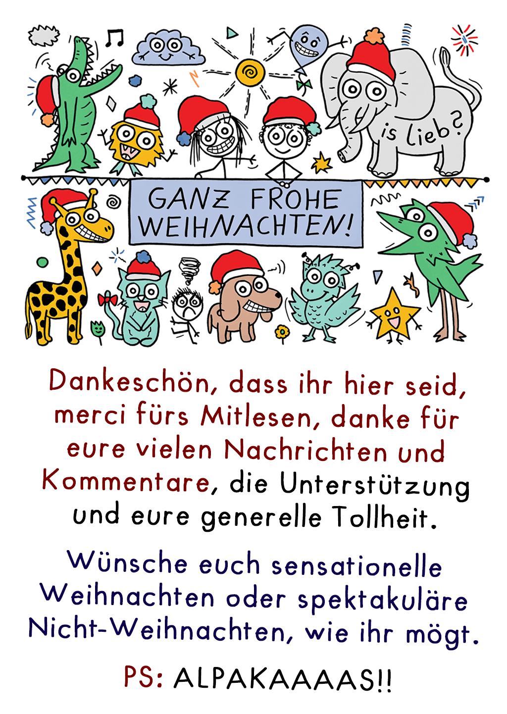Comic Frohe Weihnachten.Ganz Frohe Weihnachten