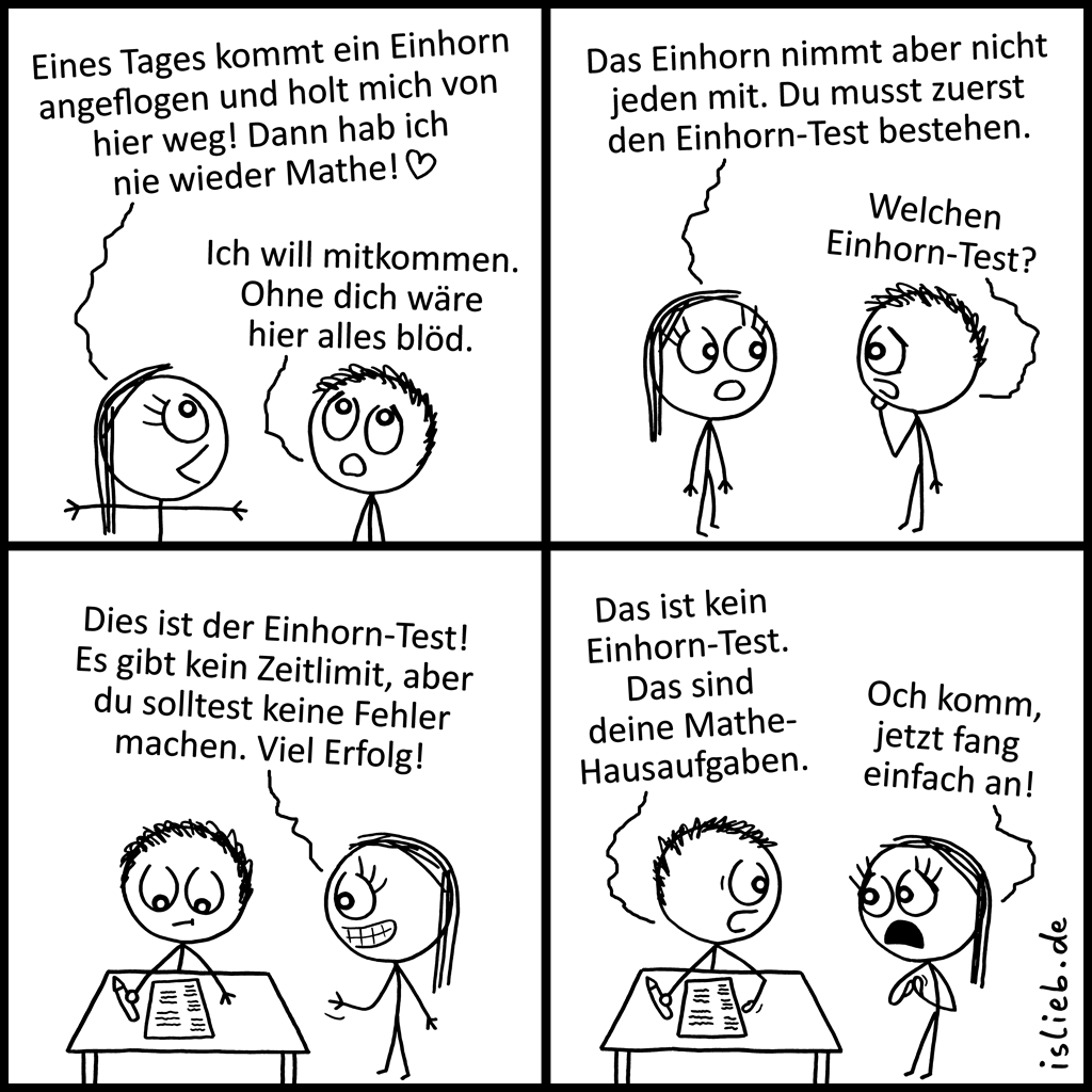 Einhorn-Test | Unicorn-Comic | is lieb?