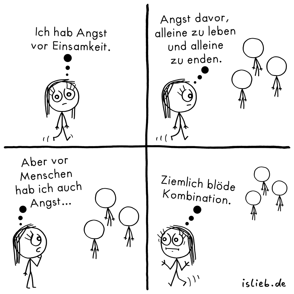 Einsamkeit | Comic vom Alleinsein | is lieb?