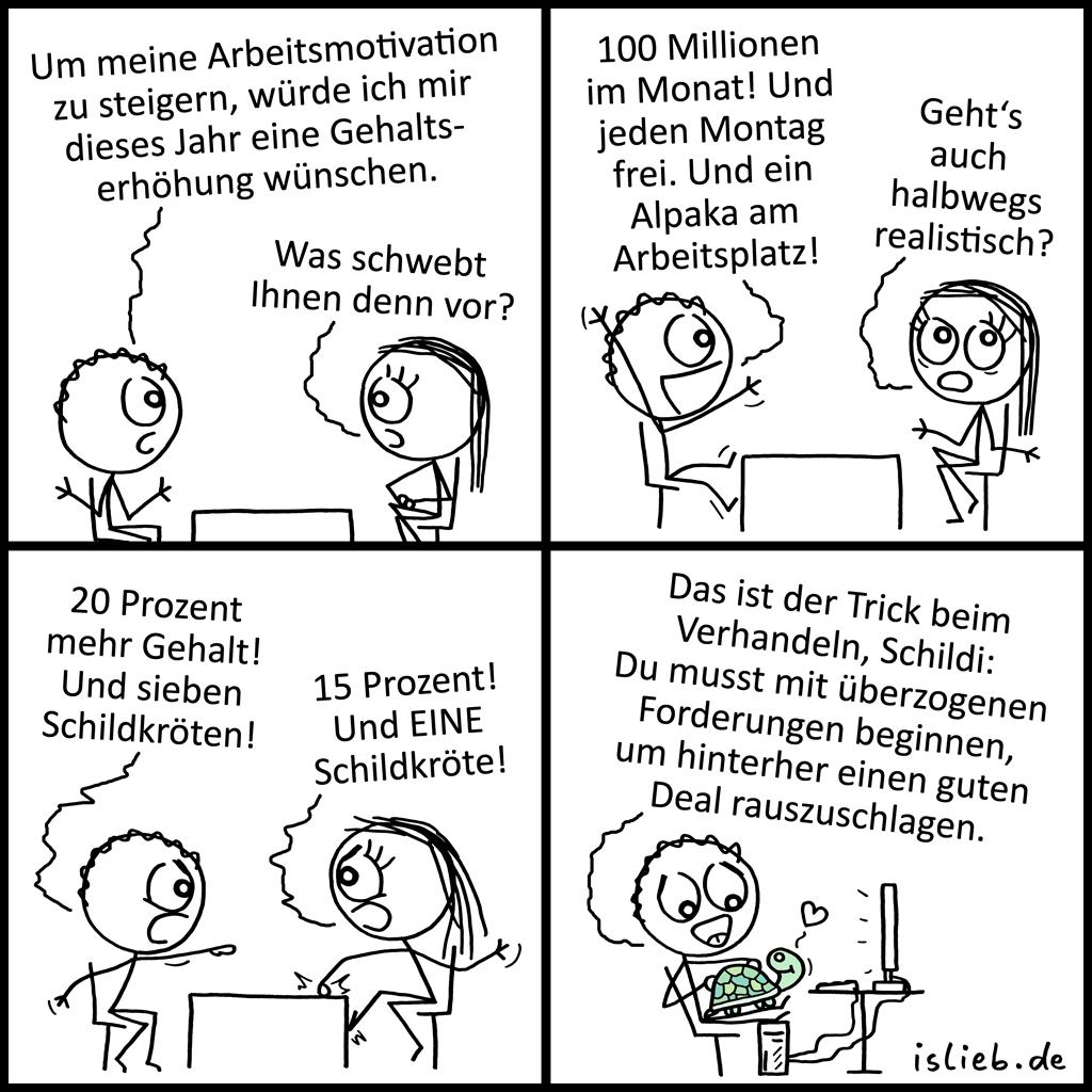 Gehaltserhöhung | Strichmännchen-Comic | is lieb?
