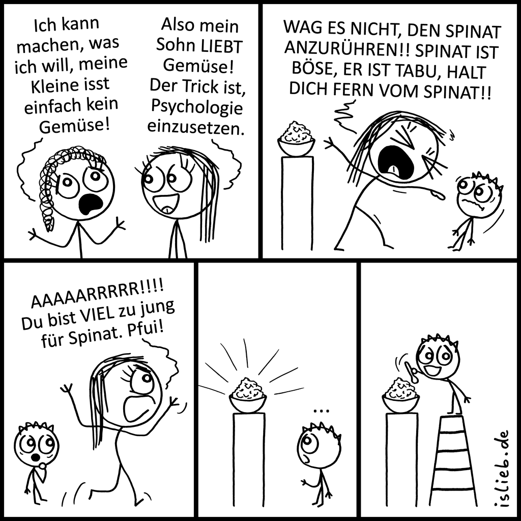 Gemüse | Erziehungs-Comic | is lieb?