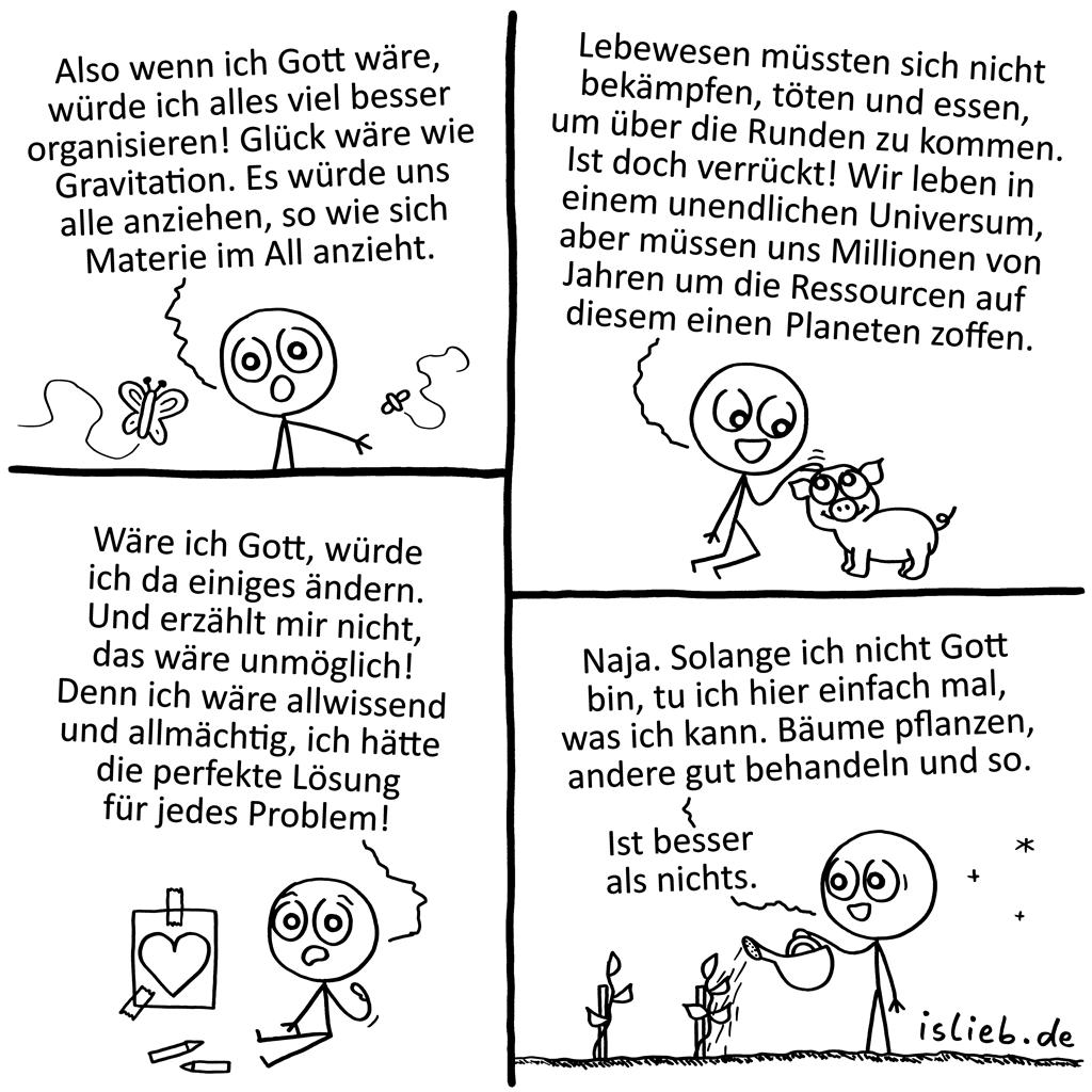 Gott sein | Strichmännchen-Comic | is lieb?
