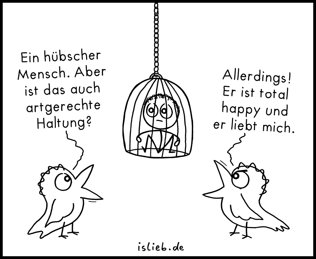 Hübscher Mensch | Vogel-Cartoon | is lieb?