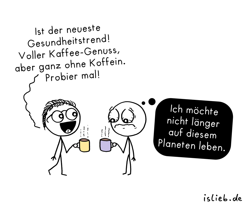 Kaffee-Trend | Koffein-Cartoon | is lieb?