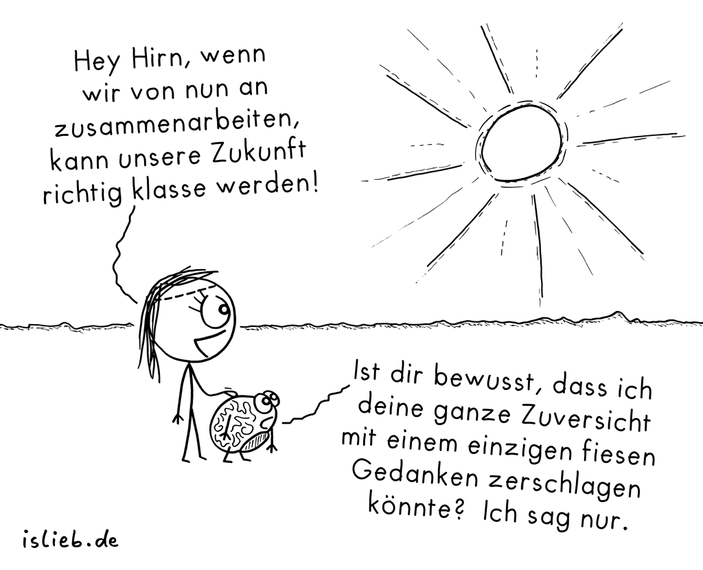 Teamwork! | Gehirn-Cartoon | is lieb?